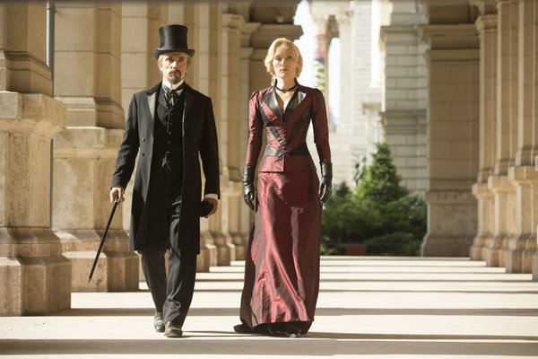 Ben Miles and Victoria Smurfit in Dracula (2013)