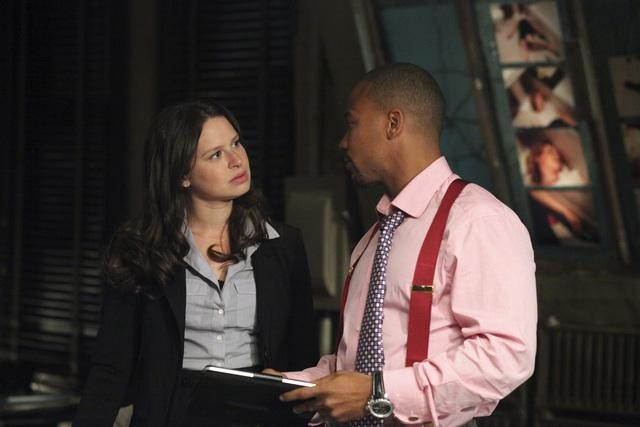 Columbus Short and Katie Lowes in Scandal (2012)