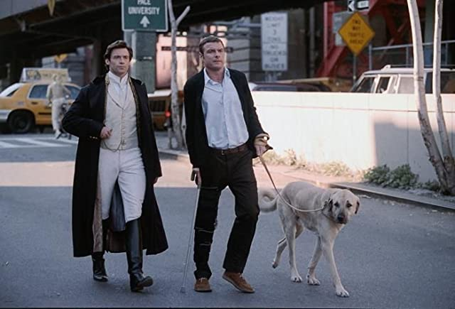 Liev Schreiber and Hugh Jackman in Kate & Leopold (2001)