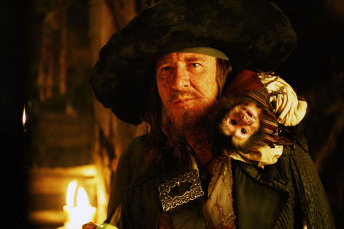 Geoffrey Rush in Pirates of the Caribbean: At World's End (2007)