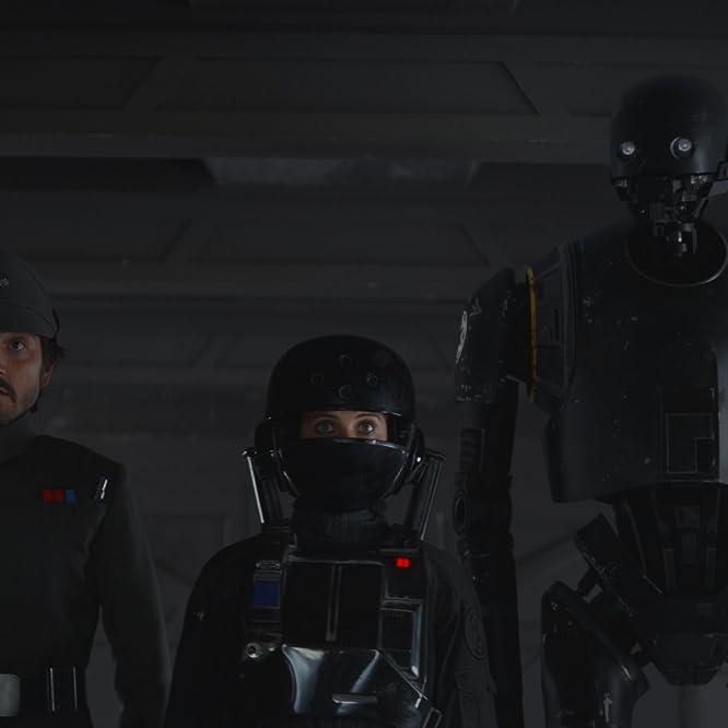 Felicity Jones, Diego Luna, and Alan Tudyk in Rogue One (2016)