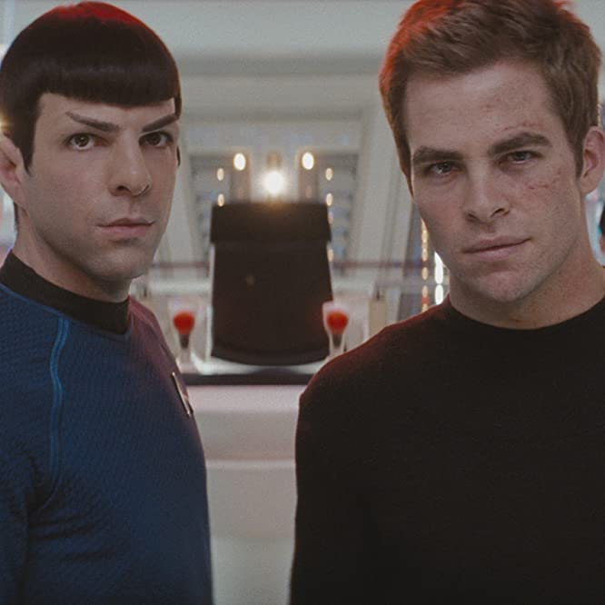 Zachary Quinto and Chris Pine in Star Trek (2009)