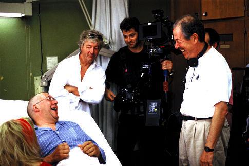(L-R) Sylvie Drapeau, Rémy Girard, Guy Dufaux (Dir. of Photography), Francois Daigneault and Denys Arcand.