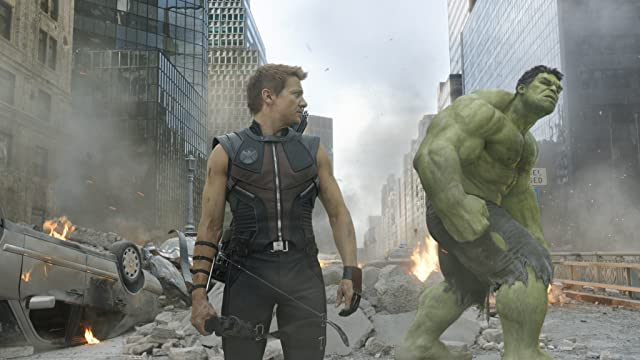 Jeremy Renner and Mark Ruffalo in The Avengers (2012)