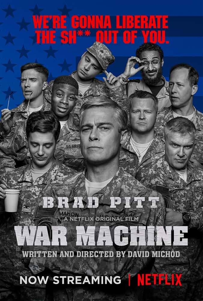 War Machine 2017 Hindi Dubbed Dual Audio 480p BluRay 350MB