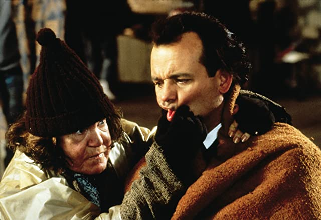 Bill Murray and Anne Ramsey in Scrooged (1988)