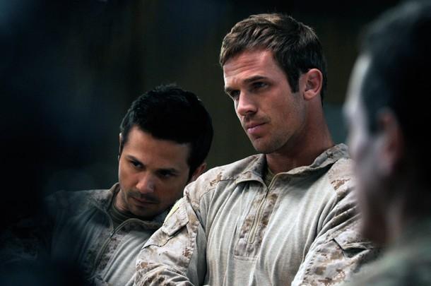Freddy Rodríguez and Cam Gigandet in Seal Team Six: The Raid on Osama Bin Laden (2012)