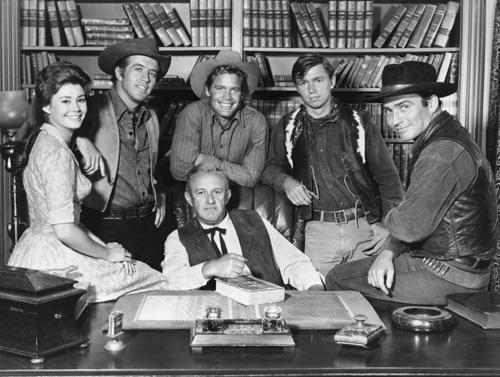 THE VIRGINIAN, Lee Cobb, Roberta Shore, Clu Galager, Doug McClure, Randy Boone, James Drury, 60's, TV, I.V.