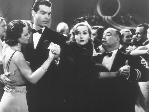 Carole Lombard, Dick Elliott, and Fred MacMurray in The Princess Comes Across (1936)