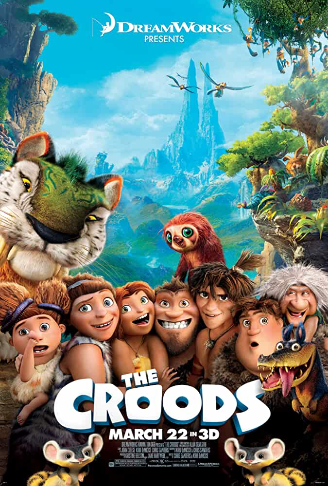Poster The Croods 2013 Full HD Movie Download Dual Audio Hindi Dubbed Free