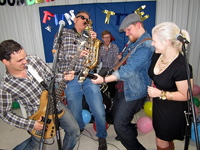 Rockin out with the band Corner Pocket on set of FINDING NORMAL