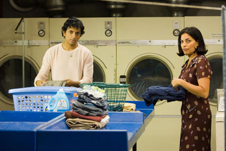 Sarita Choudhury and M. Night Shyamalan in Lady in the Water (2006)
