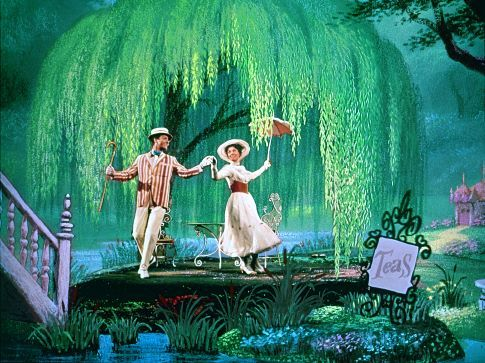 Julie Andrews and Dick Van Dyke in Mary Poppins (1964)