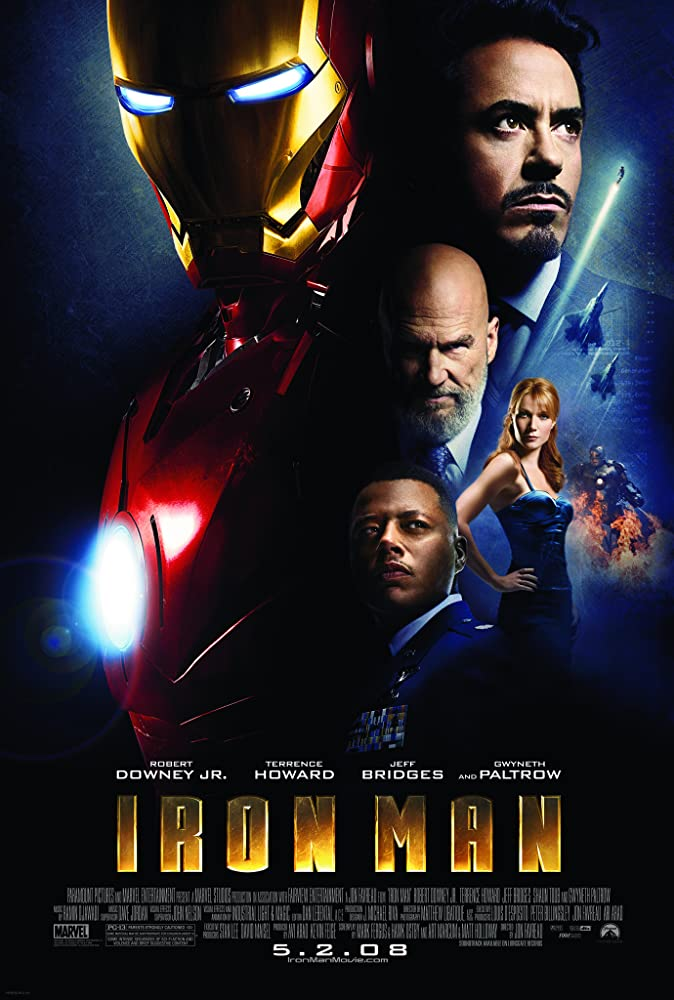 Jeff Bridges, Robert Downey Jr., Gwyneth Paltrow, and Terrence Howard in Iron Man (2008)