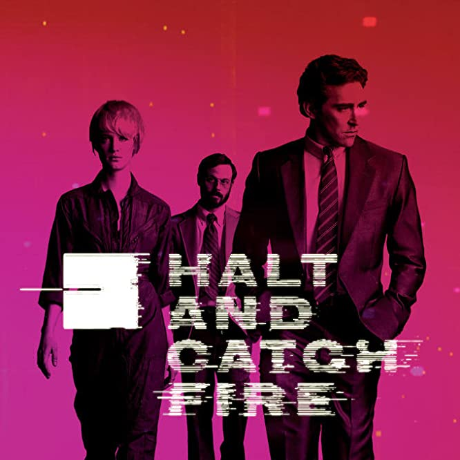 Scoot McNairy, Lee Pace, and Mackenzie Davis in Halt and Catch Fire (2014)