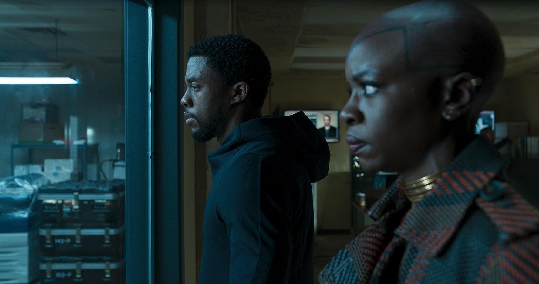Chadwick Boseman and Danai Gurira in Black Panther (2018)