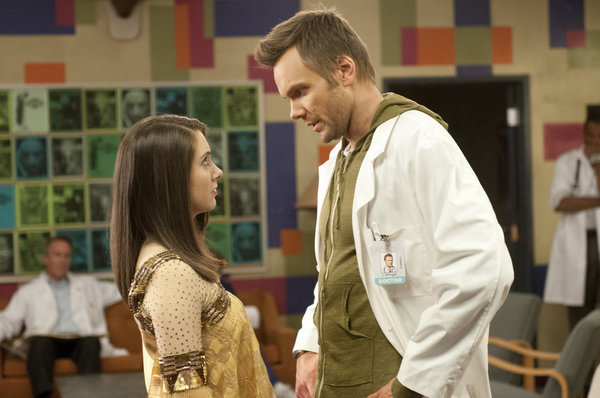Joel McHale and Alison Brie in Community (2009)