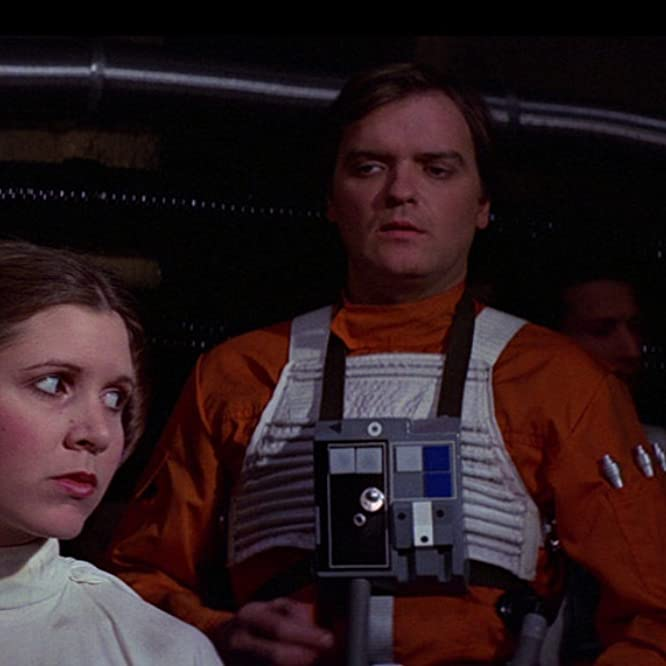 Carrie Fisher and Angus MacInnes in Star Wars: Episode IV - A New Hope (1977)