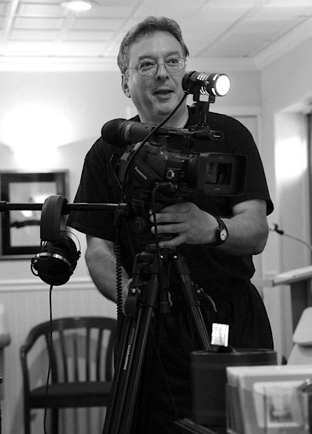 Director John Orrichio on the set of