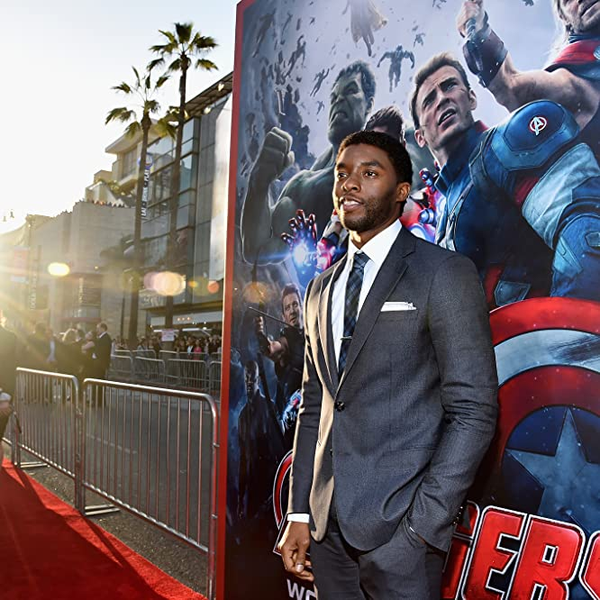 Chadwick Boseman at an event for Avengers: Age of Ultron (2015)