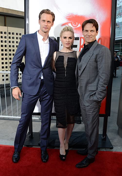 Anna Paquin, Alexander Skarsgård, and Stephen Moyer at an event for True Blood (2008)