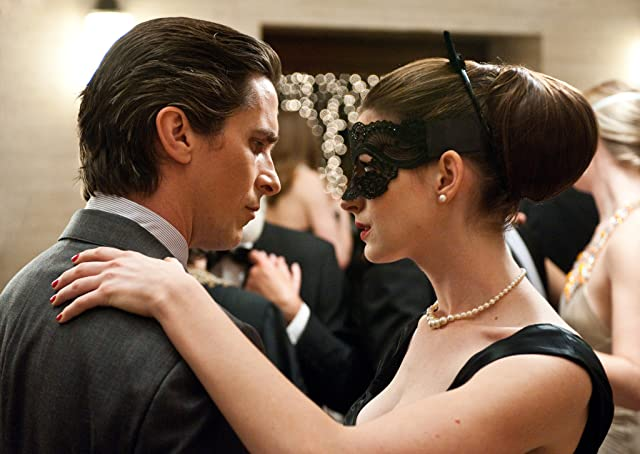 Christian Bale and Anne Hathaway in The Dark Knight Rises (2012)