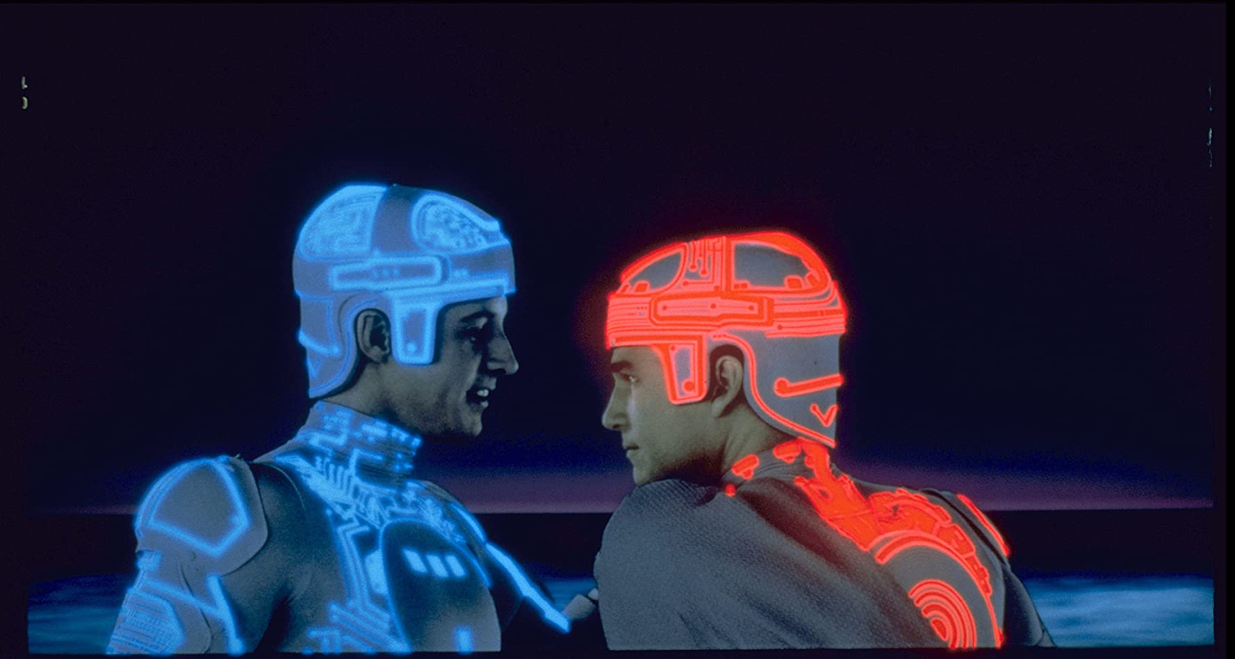 Bruce Boxleitner and Jeff Bridges in TRON (1982)