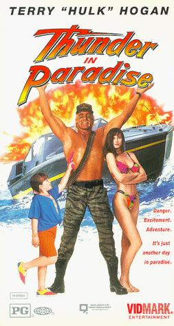 Hulk Hogan, Felicity Waterman, and Robin Weisman in Thunder in Paradise (1994)