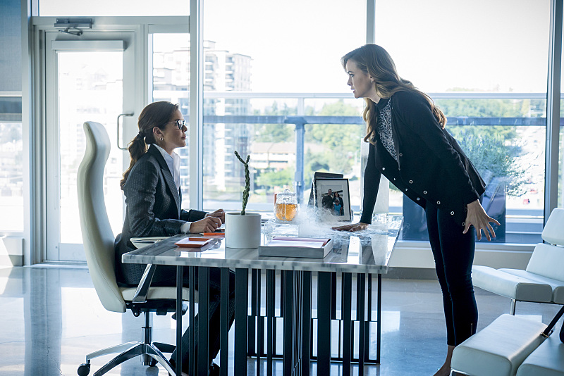 "Susan Walters and Danielle Panabaker as Dr. Caitlin Snow and Dr. Carla Tanhauser in ""Monster"" (Photo Credit: IMDb)"