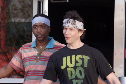 Jamie Kennedy and Miguel A. Núñez Jr. in Kickin' It Old Skool (2007)