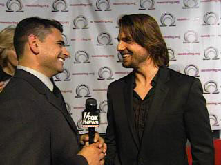 Covering a charity event with Tom Cruise