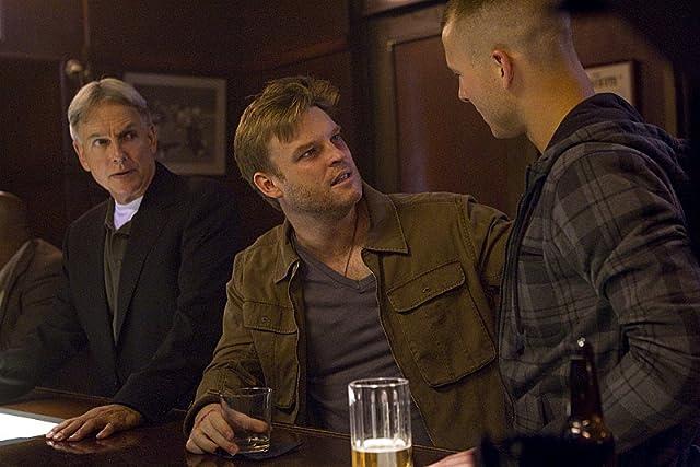 Mark Harmon, Brad Beyer, and Glen Powell in NCIS (2003)