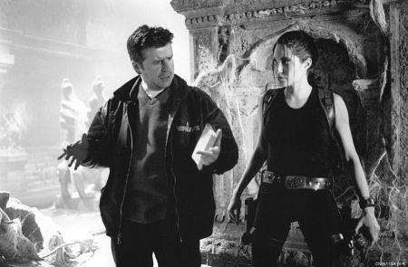 Angelina Jolie and Simon West in Lara Croft: Tomb Raider (2001)