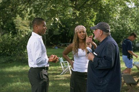 Cuba Gooding Jr., Beyoncé Knowles, and director Jonathan Lynn