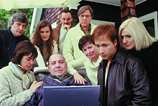 Dorothée Berryman, Toni Cecchinato, Pierre Curzi, Rémy Girard, Marina Hands, Yves Jacques, Dominique Michel, Louise Portal, and Stéphane Rousseau in The Barbarian Invasions (2003)