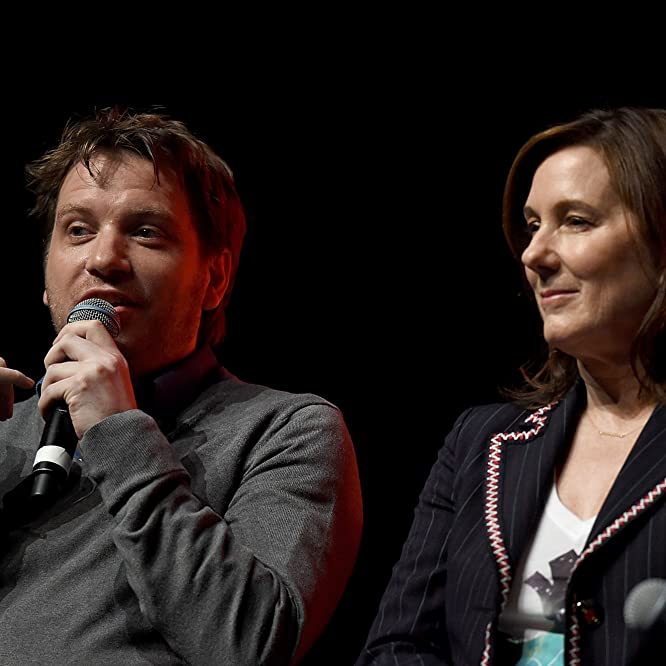 Kathleen Kennedy and Gareth Edwards at an event for Rogue One (2016)