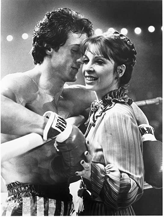 Sylvester Stallone and Talia Shire in Rocky III (1982)