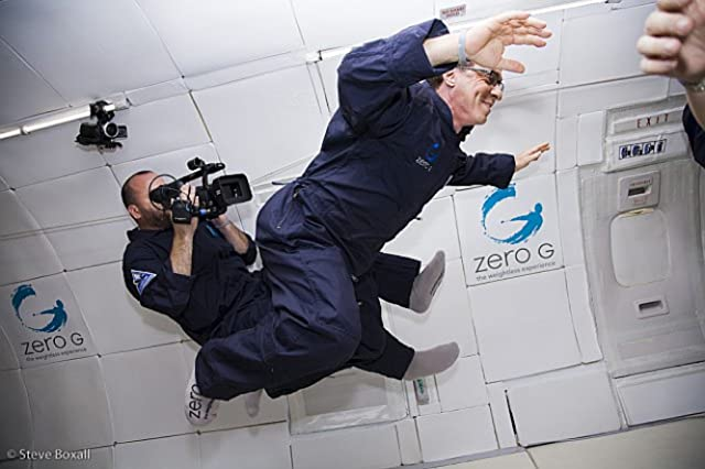 Barry Ptolemy films Ray Kurzweil on a Zero Gravity flight for Transcendent Man.