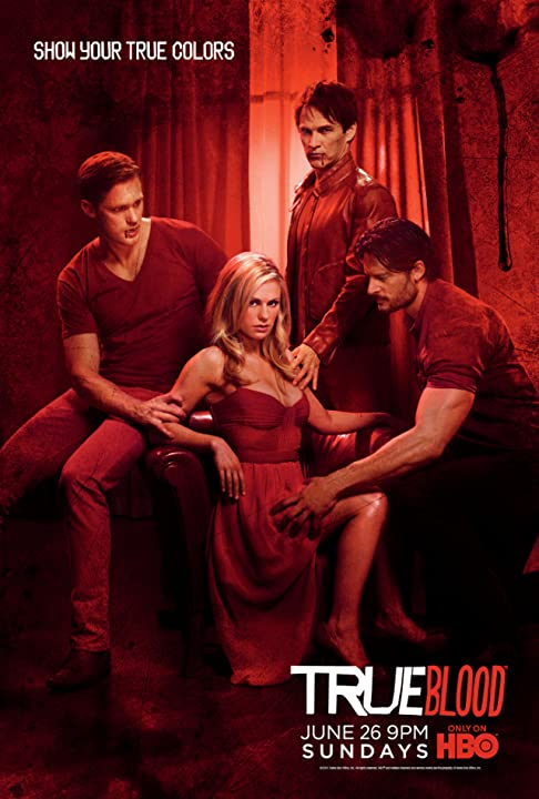 Anna Paquin, Alexander Skarsgård, Joe Manganiello, and Stephen Moyer in True Blood (2008)