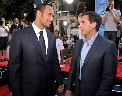 Steve Carell and Dwayne Johnson at Get Smart (2008)
