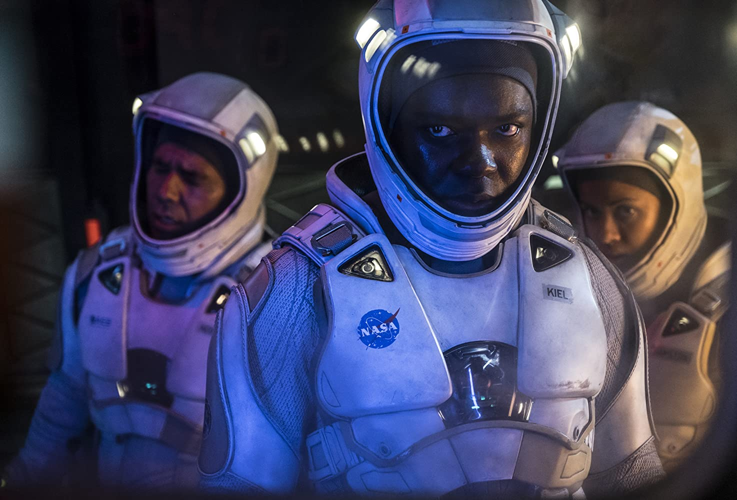 John Ortiz, David Oyelowo, and Gugu Mbatha-Raw in The Cloverfield Paradox (2018)