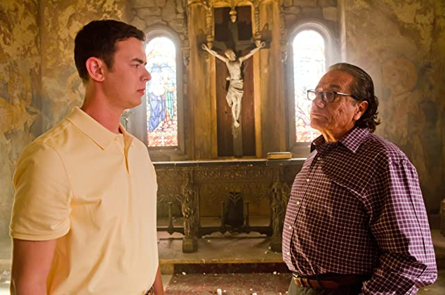Edward James Olmos and Colin Hanks in Dexter (2006)