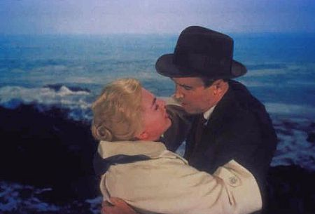 Jimmy Stewart and Kim Novak star