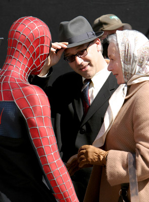 Sam Raimi and Rosemary Harris at Spider-Man 2 (2004)
