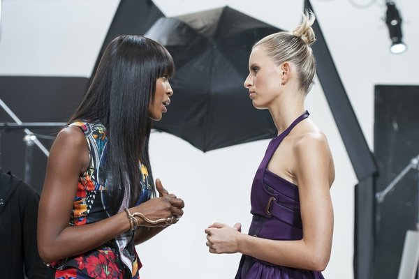 Naomi Campbell and Karolina Kurkova in The Face (2013)
