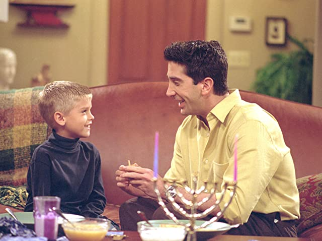 David Schwimmer and Cole Sprouse in Friends (1994)
