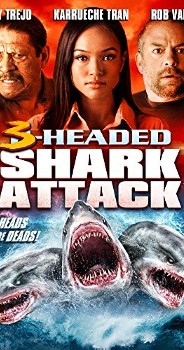 3 Headed Shark Attack Poster