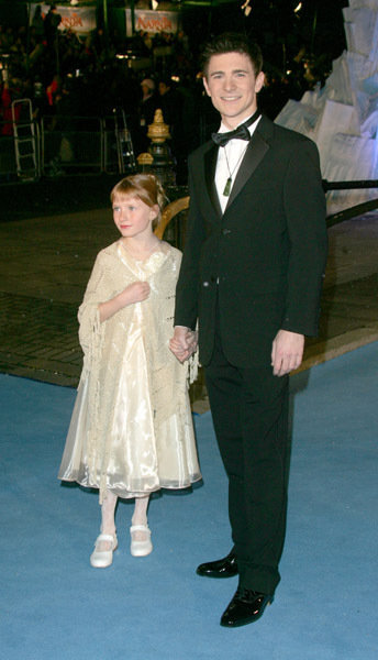 Mark Wells (King Edmund) and his little sister, Bethany Wells, at the Narnia World Premiere.