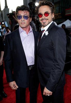 Sylvester Stallone and Robert Downey Jr. at Iron Man 2 (2010)