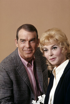 Fred MacMurray and Beverly Garland from